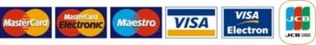 Akceptujeme platební karty MasterCard, Visa, Maestro